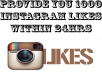 provide you 1000 INSTAGRAM likes