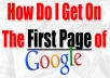 give dominate Google 1 page no-problem