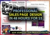 create a Professional Sales Page in 48 hours