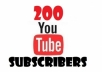 add 200+ Genuine Safe YouTube Subscribers within 2 days