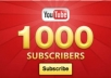 add 1000+ Real Human YouTube Subscribers within 7 days