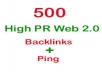 create 500 wiki Backlinks,Redirect hem to your website