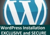 install an Exclusive and secure wordpress site