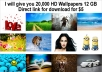 give 20,000 HD Wallpapers 12 GB Direct link for download