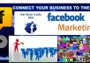 promote your weblink to fifty groups on facebook with over twenty five thousand members for real traffic