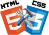 fix any css and html errors