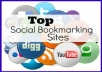Submit your site,blog or any link MANUALLY to 40 TOP PR9-PR3 social bookmarking sites