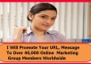 promote Your URL, Message To Over 40000 Online Marketing Group Members Worldwide
