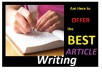 Write 500 Quality Words Article