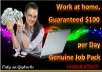 Give You $100 Per Day Guaranteed Income Pack Instantly