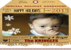 personalize this cool Christmas tag card