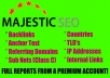 provide EIGHT Complete Majestic Seo domain reports in 24 hours