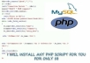 install and configure any PHP script for you