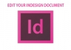 edit your InDesign document