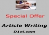 Write you a *Fantastic 500 Word Article* for only $5 the Article will be *Unique and Well Written*