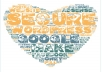 create a heart shape text cloud picture of your target keyword with a list of keywords