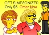 SIMPSONIZE YOU AS A FUNNY YELLOW CARTOON