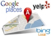 create 36 Maps citations for google USA local page