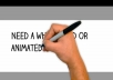 create a 60 second whiteboard animated video