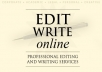 Proofread & Edit your Files/Documents