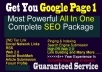 All IN One Complete LINK BUILDING Package For Wesite/Blog best Inclusive Killer SEO campaign
