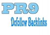 manually create 15 backlinks from PR9 domains in 24 hours