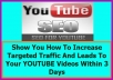 Show You How To Rank To First Page On YouTube Within 1-3 Days