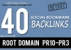 Do Manually 40 PR10 Social Bookmark Backlinks