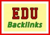 create manually 10 High PR EDU BACKLINKS for your website ranking