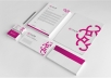 design professional letterhead with 2 concepts