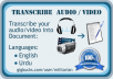 transcribe audio or video