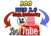 will Embed Your YouTube Video On 100 High Authority Web 2.0