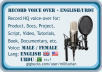 do Male or Female voice over in English and Urdu
