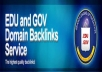 create 100 edu and gov backlinks to your website