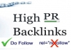 provide a list of 1000 high PR (1-8) blogs/websites to build dofollow backlinks