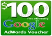 give you one 100 dollars google adwords voucher