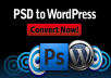 do PSD to Wordpress