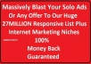 massively Blast Your Solo Ads Or Any Offer To Our Huge 27M Responsive List