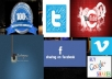 tell you where you can promote your social networks and websites