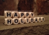 display your holiday message on a fireplace mantle