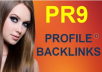 build 500 PR9 seo optimized High PR backlinks, Panda Penguin safe