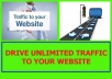 Drive UNLIMITED traffic  to your website
