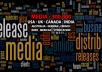 Send Your Press Release to 1000 Relevant News, Magazines, TV, Radio, Online