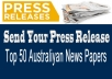 Send Your Press Release to Top 50 Australia Newspapers