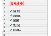 Handle complete on-page seo for website