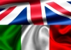 translate 1000 words from English to Italian for