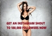 shout you out on instagram to 180000