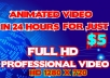 Create A Professional ANIMATED Video That Will Convert