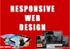 create a responsive Web site design