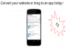convert your website or blog into a android app